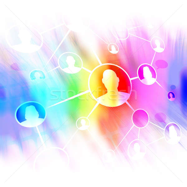 Social Networking Friends Diagram Stock photo © ArenaCreative