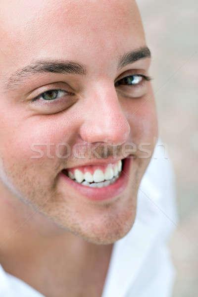 幸せ 男 笑みを浮かべて 小さな はげ アップ ストックフォト © ArenaCreative