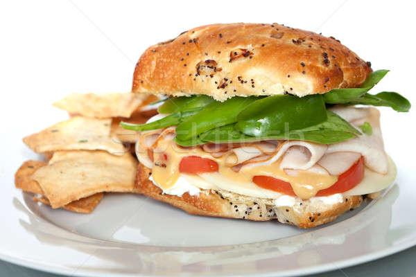 Smoked Turkey Sandwich Stock photo © ArenaCreative