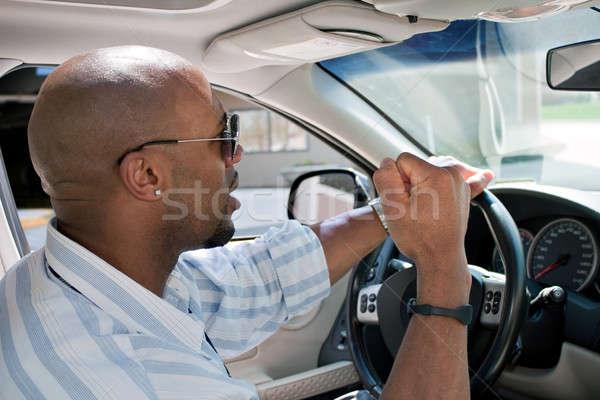 человека дороги ярость вождения Сток-фото © ArenaCreative