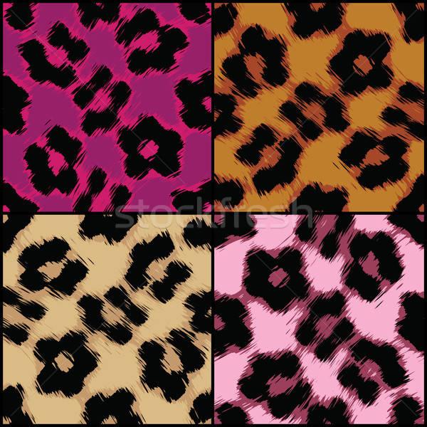 Сток-фото: бесшовный · Leopard · печать · текстуры · разнообразие · цветами