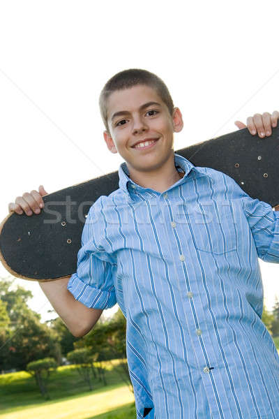 Teenager with His Skateboard Stock photo © ArenaCreative