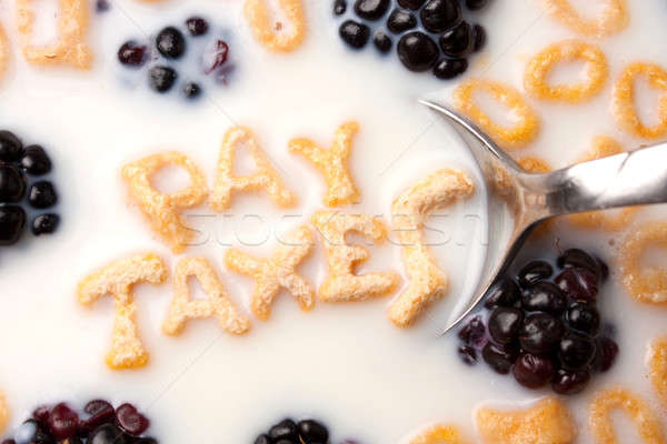 Pay Taxes Cereal Reminder Stock photo © ArenaCreative