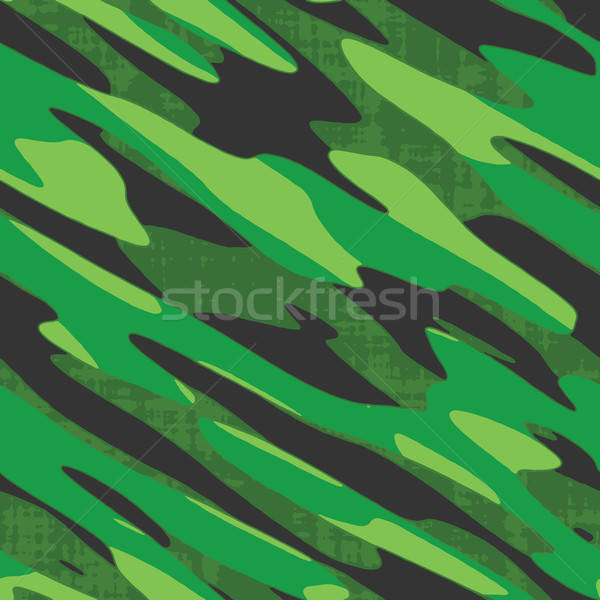 Green Camo Seamless Vector Stock photo © ArenaCreative