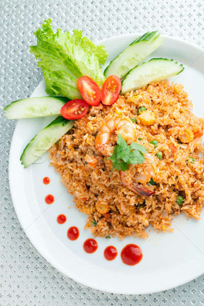 Sriracha Fried Rice with Shrimp Stock photo © arenacreative