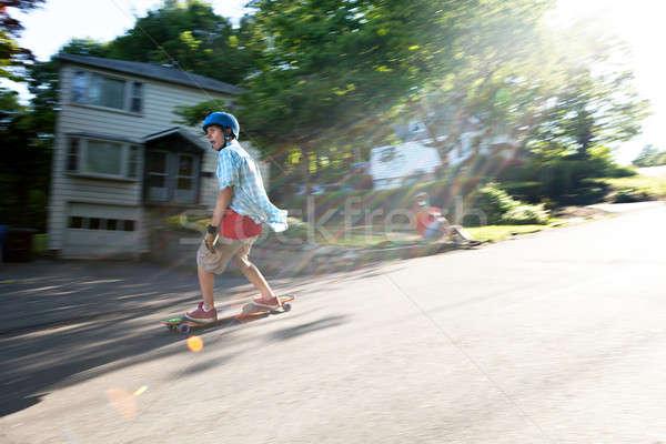 Longboarding Lifestyle Photoshoot Stock photo © arenacreative