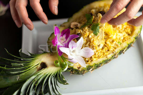 Thai Pineapple Fried Rice Stock photo © arenacreative