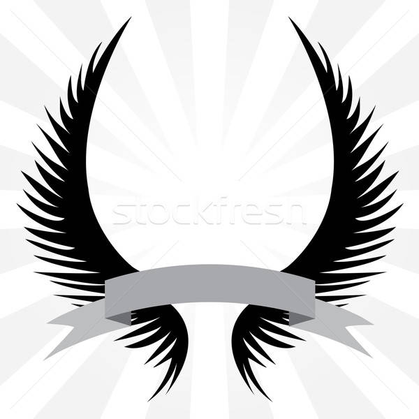 Gothic Wings Crest Stock photo © ArenaCreative