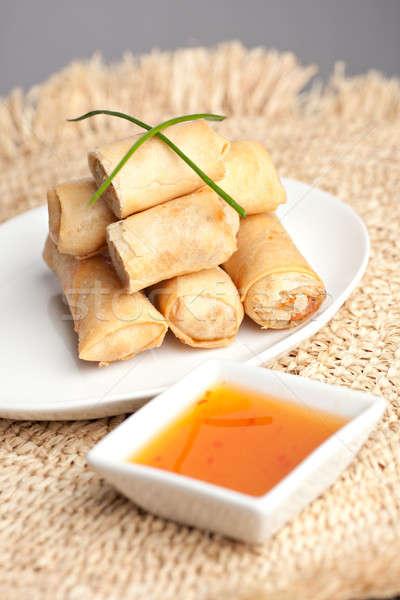 Сток-фото: тайский · яйцо · пластина · весны · закуска