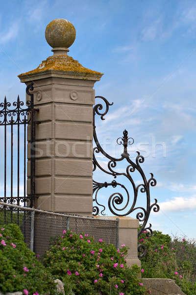 Fancy Wrought Iron Gate Stock photo © ArenaCreative