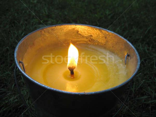 Secchio candela giallo perfetto ora legale fuoco Foto d'archivio © ArenaCreative