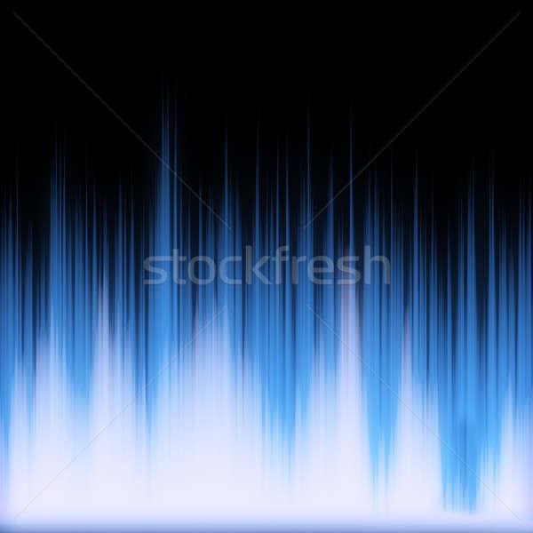 Kék izzó audio hullámfoma funky neon Stock fotó © ArenaCreative