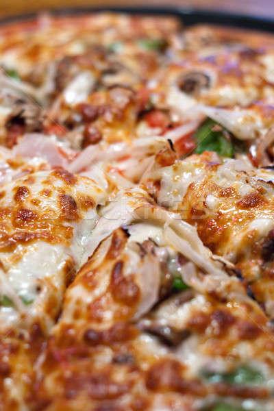 Ev yapımı uzmanlık pizza taze ekstra sıcak Stok fotoğraf © ArenaCreative