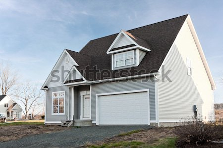 Vinyl Sided House with 2 Car Garage Stock photo © ArenaCreative