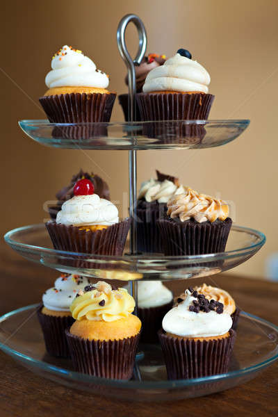 Cupcakes Party Tray Stock photo © ArenaCreative