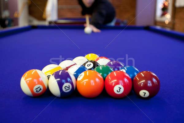 Pool Halle Billard Mann bereit Rack Stock foto © ArenaCreative