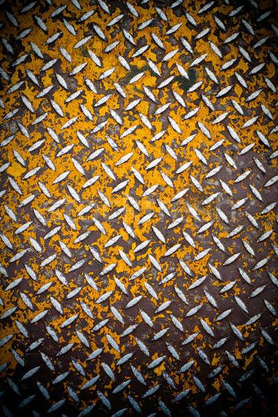Rusted Diamond Plate Metal Stock photo © ArenaCreative