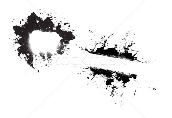 Grunge Splatter Paint Splotches Stock photo © ArenaCreative