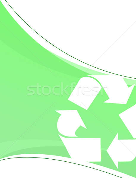 Green Recycling Layout Stock photo © ArenaCreative
