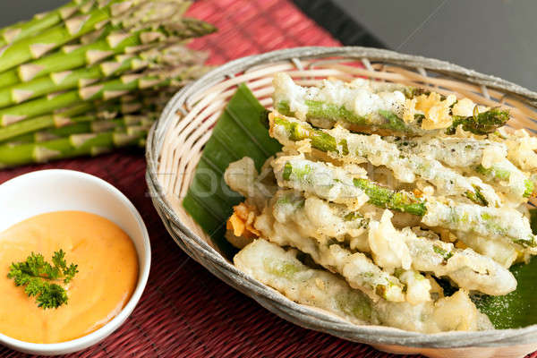 Tempura Asparagus Thai Appetizer Stock photo © arenacreative