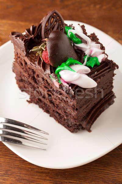 Chocolate Cake Slice Stock photo © ArenaCreative