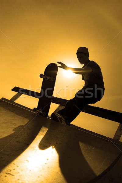 Skateboarder Silhouette Stock photo © ArenaCreative