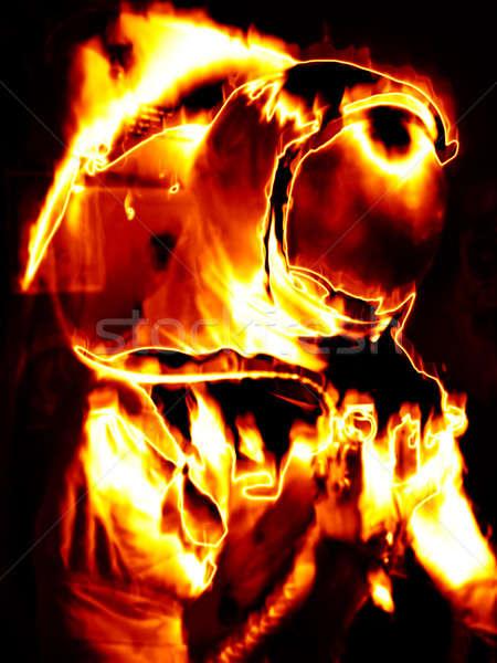 Flaming Astronaut Stock photo © ArenaCreative