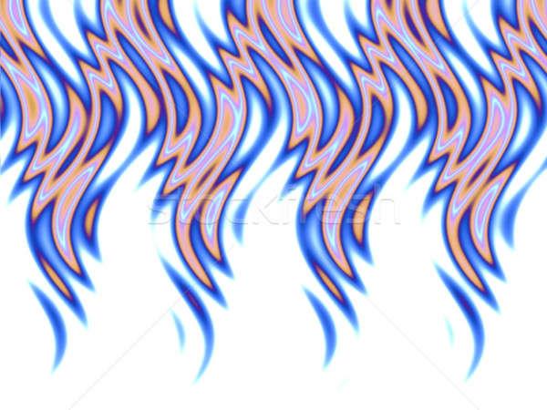 blue fire over white Stock photo © ArenaCreative