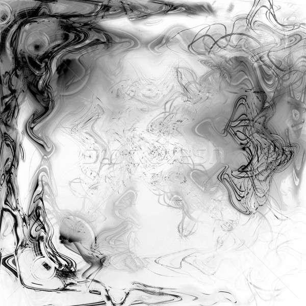 Líquido plasma preto e branco abstrato luz projeto Foto stock © ArenaCreative