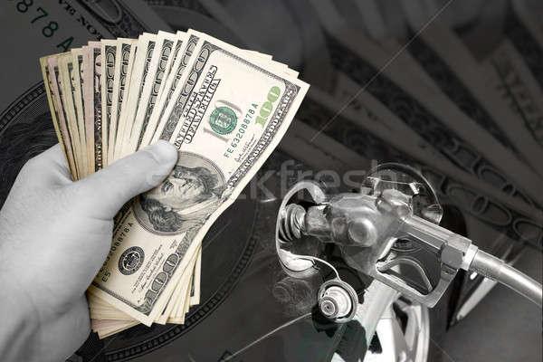 Yakıt montaj gaz fiyatlar dünya çapında Stok fotoğraf © ArenaCreative