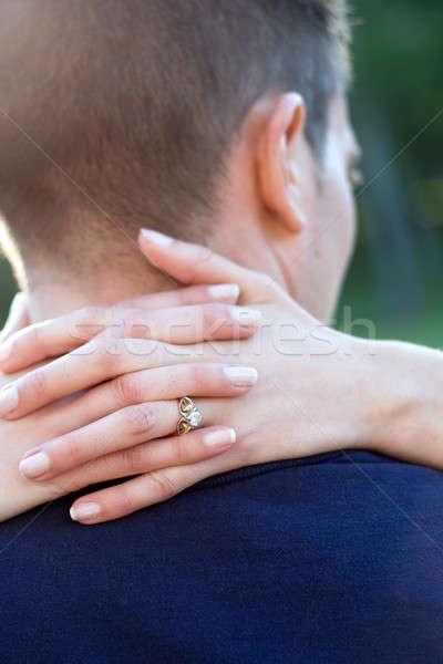 従事 カップル 幸せ 女性 手 周りに ストックフォト © ArenaCreative