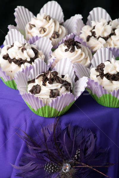 Fancy Gourmet Cupcakes Stock photo © ArenaCreative