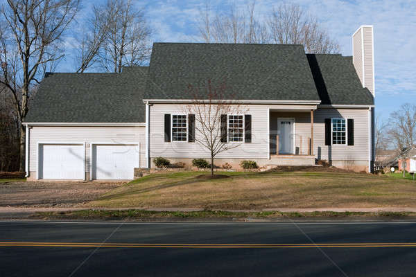 Newly Constructed House with Two Car Garage Stock photo © ArenaCreative
