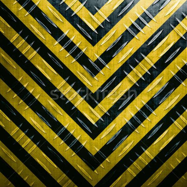 Hazard Stripe Diamond Plate Stock photo © ArenaCreative