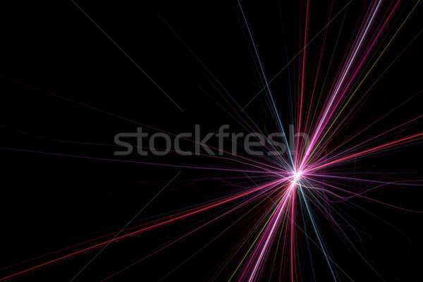 Starburst Light Trails Fractal Stock photo © ArenaCreative