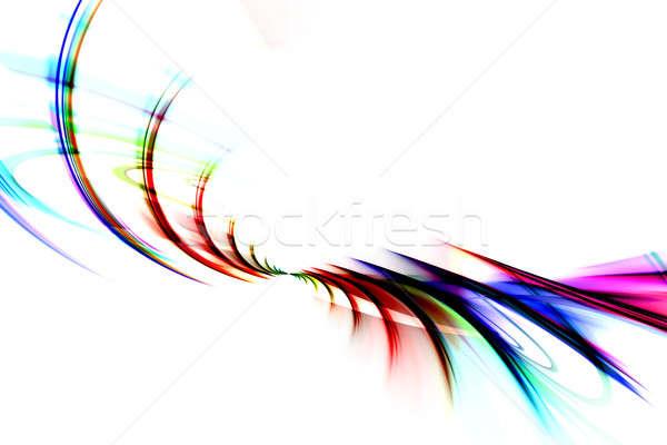 Színes fraktál örvények szivárvány absztrakt terv Stock fotó © ArenaCreative