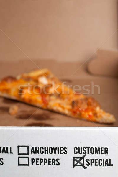 Specialitás pizza választék szeletek tyúk doboz Stock fotó © ArenaCreative