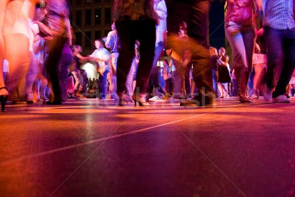 Hareket düşük atış insanlar dans Stok fotoğraf © ArenaCreative