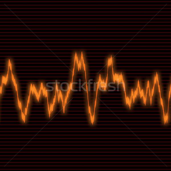 Narancs hullámfoma audio fekete absztrakt háttér Stock fotó © ArenaCreative