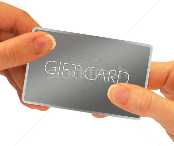 gift card hands Stock photo © ArenaCreative