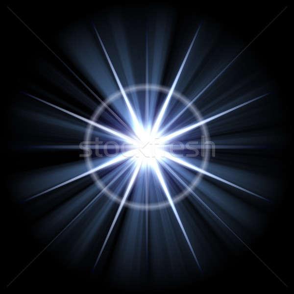 Hellen Burst abstrakten groß Sonne Stock foto © ArenaCreative