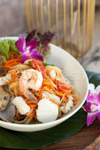 Thai Seafood Som Tum Salad Stock photo © arenacreative