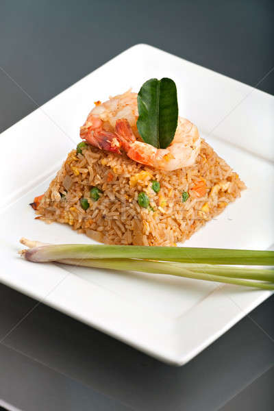 Thai Style Shrimp Fried Rice Stock photo © ArenaCreative