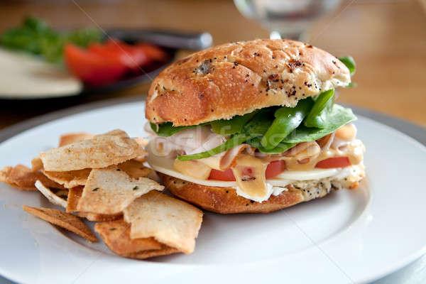 Deli Sandwich on an Onion Roll Stock photo © ArenaCreative
