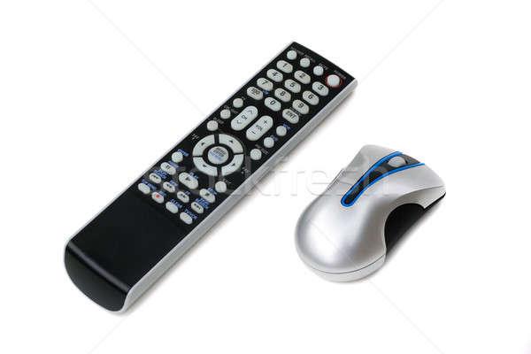 Afstandsbediening muis televisie draadloze computermuis beide Stockfoto © ArenaCreative
