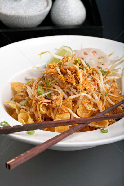タイ料理 麺 タイ 皿 ぱりぱり 豆 ストックフォト © ArenaCreative