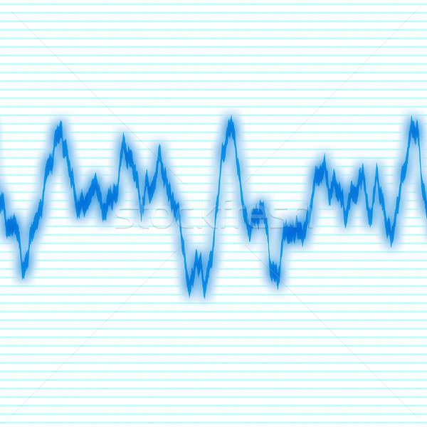Kék hullámfoma audio fekete absztrakt háttér Stock fotó © ArenaCreative