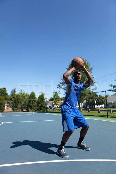 Basketball Player Shooting Stock photo © arenacreative