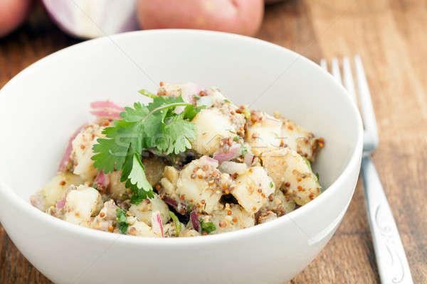 Bowl of Potato Salad Stock photo © arenacreative
