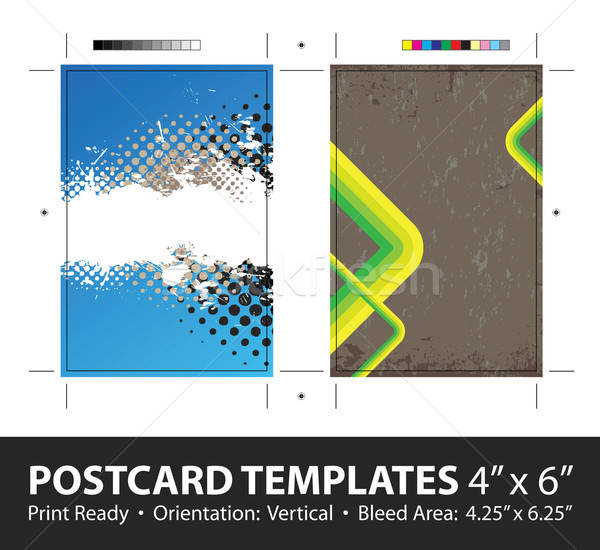 Grungy Postcard Templates Stock photo © ArenaCreative